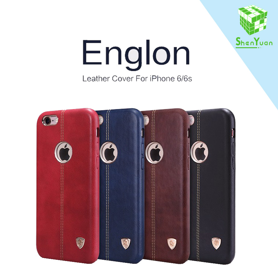 Luxury High Quality Nillkin Englon Oger Series Cover Case for iPhone 6 6s Vintage PU Leather Case for iPhone 7 plus