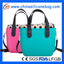 buy direct from china factory fashion modeling waterproof silicone ladies hand bags