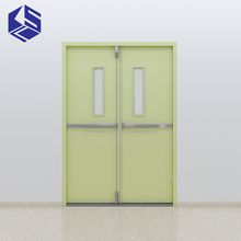 KSL brand tempered glass fire door metal fire flat safety door design