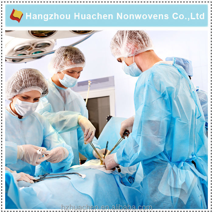 Anhui Supplier Anti-bacterial Non-woven Fabric for Hospital Gown Fabric