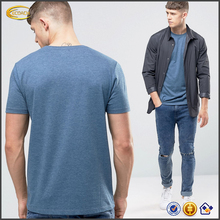 Ecoach high quality crew neck regular fit short sleeve blue color blank 50% cotton 50% polyester new model men's t-shirt