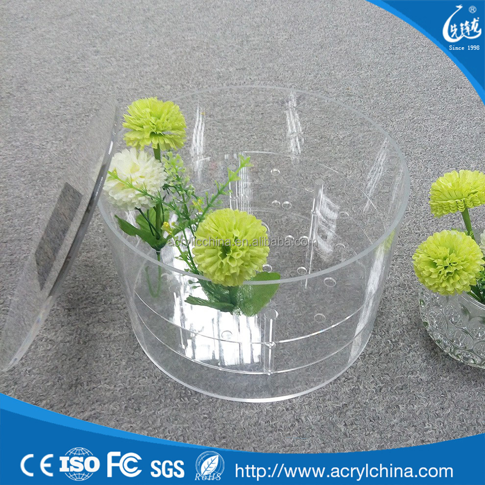 Wholesale factory direct sale custom clear acrylic rose flowers display boxes