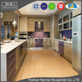Beautiful modern customized U-shaped kitchen cabinet design with tall cabinet