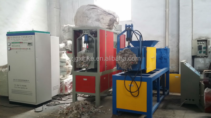Plastic PE/pp film screw squeezing dryer