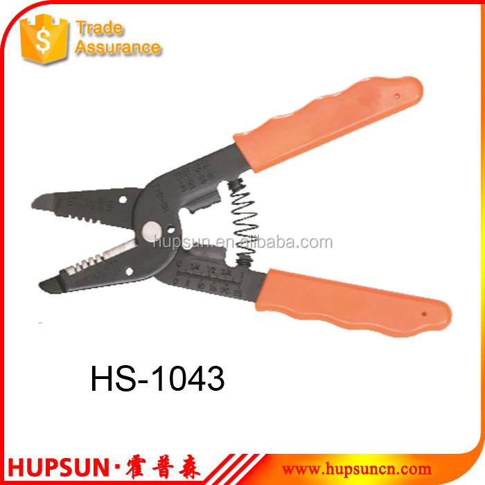 HS-1043 cutting 30mm stripping 0.25-0.65mm2 manual multi function wire cutter striper