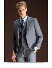 Wholesale OEM service turtle neck pocket slim fit men gray pant coat design men wedding suits pictures