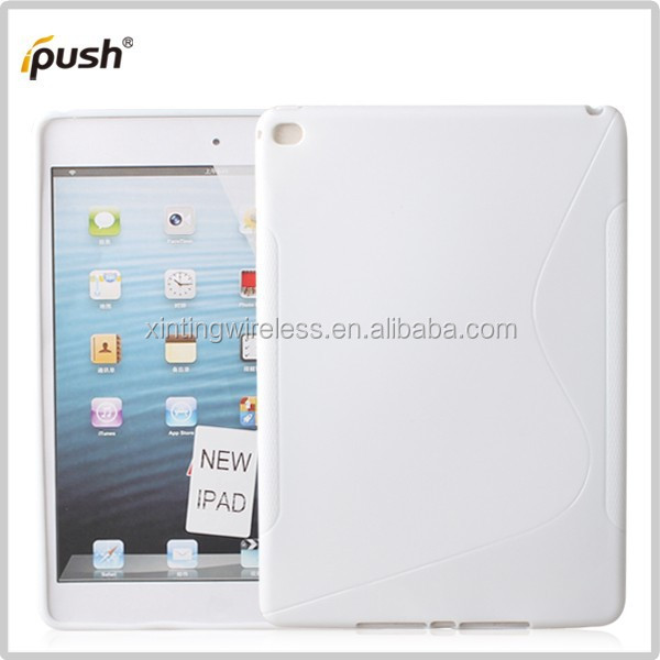 factory price s line TPU case for ipad air 2