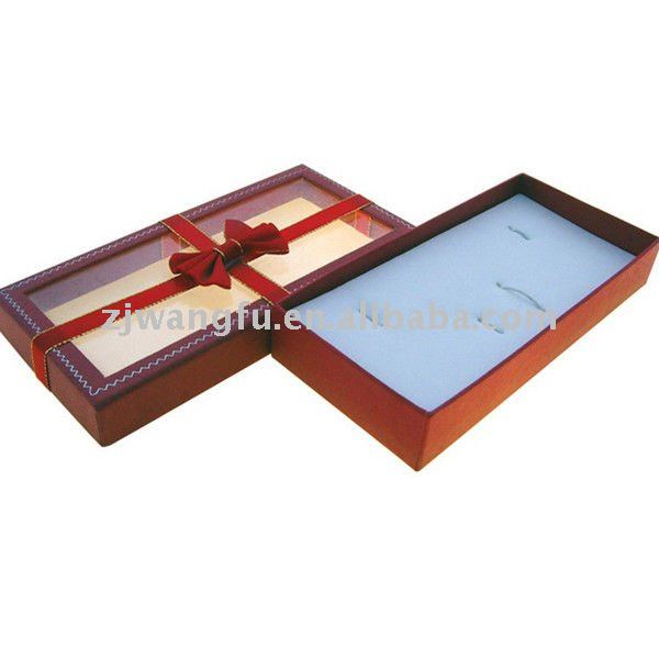 good looking pvc window paper jewelry box