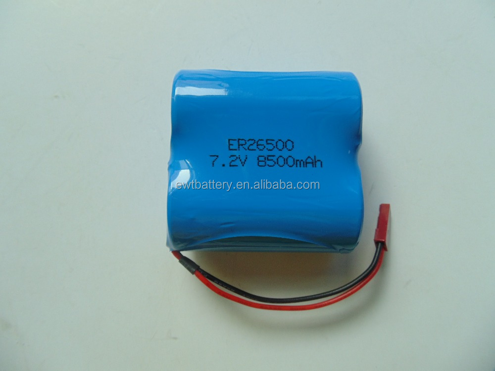 ER26500 LS26500 7.2V 8500mAh primary Lithium battery pack