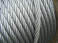 Electric / Hot Dipped Galvanized Steel Wire Rope in wooden reels