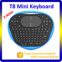 MIni Bluetooth Keyboard With Airmouse T8 2.4G Fly Air Mouse For Smart Android TV Box,PC,Cell Phone