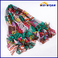 HZW-13569003 fashion spring ladys good new design high quality linen lurex scarf