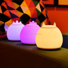 Colorful LED Children Night Light Kids Baby Bedside Sleep Lamp Silicone USB Rechargeable Touch Sensor Romatic Nightlight