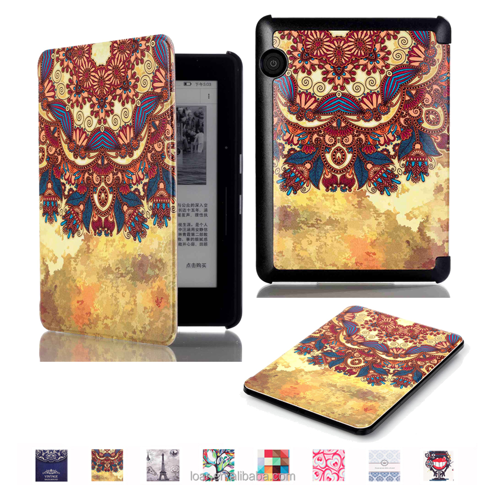 Trible Retro Style Flip Leather Smart Cover For Kindle Voyage Case 8 Patterns MIx