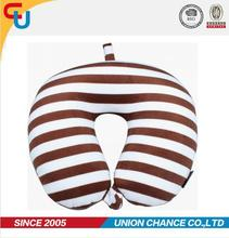Regular U shape micro beads printing Yiwu travel neck pillow
