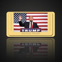 President of the United States Donald Trump Gold Bullion Bar