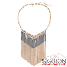 2017 Brighton Fashion Necklace Jewelry New Trending hot metal zinc alloy gold plated fashion necklace N6-10383C-8520