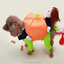 The funny Halloween Pet Apparel Pumpkin Cosplay Costume For Dog Christmas Pet Clothes