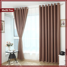 Faux Silk High Density Blackout Ready Made Soild Velour Cafe Curtains With 8 Grommets