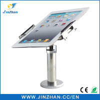 Non-slip silicon aluminum tablet stand for ipad 7-10 inch with alarm,charging and rotation functions