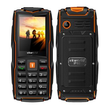 Wholesale Portable Rugged Mobile Phone IP68 GSM Waterproof Vkworld Stone New V3 Triple Sim 2.4'' Cheap Phone Support Power Bank