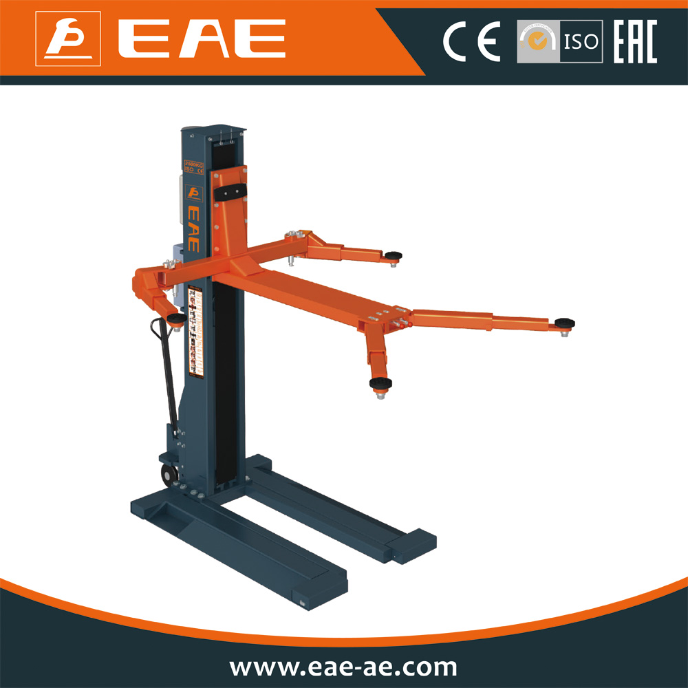 EAE Single Post Design and One Cylinder Hydraulic mobile single post car lift with CE Certification