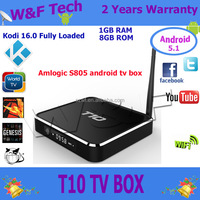 2015 Hottest/Best Quad Core Android TV BOX T10 Android TV BOX Kodi 14.2 Fully Loaded Google Android 4.4 Smart TV BOX