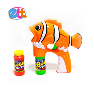 Wholesale kids toy electric led fish soap bubble gun