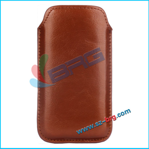 BRG Manufacture Cheapest leather pouch case for iphone 5c