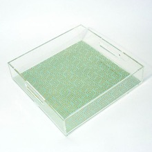 Acrylic Tray with Paper Insert, Plexiglass Tray