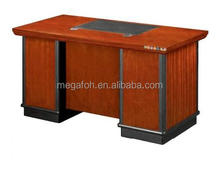 Philippine school furniture manufacturer dark walnut computer desk(FOHK-1417)