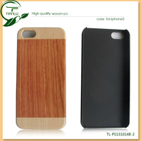 Top grade wholesale wood mobile phone case for iphone 5 wallet style leather case phone leather case for iphone