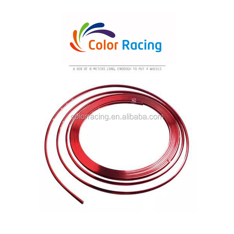 Colors Car Chrome Strips 3M Tape Cars Fashion Auto Decoration Used Sale Wheel Rim Protector Trim Wheels