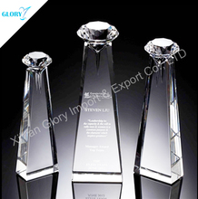 New Shape Diamond Crystal Trophy Award for Souvenir