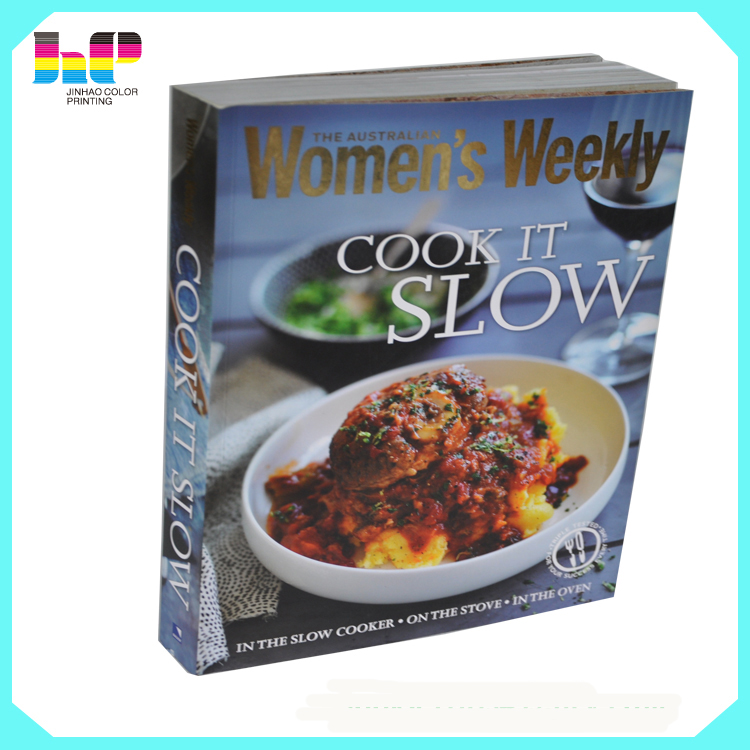 attractive hot sale high quality professional hardcover cook book