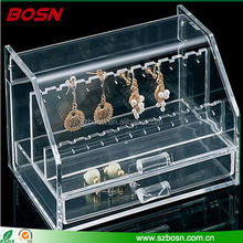 China supplies wholesale jewelry showcases plexiglass cosmetic box