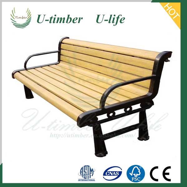 Elegant appearance WPC composite garden bench outside