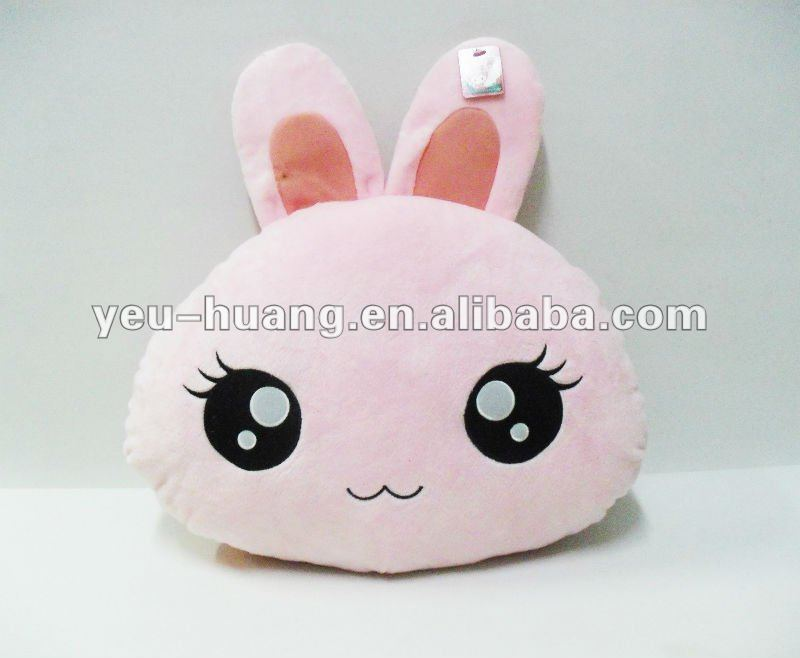 Rabbit shaped plush cushion