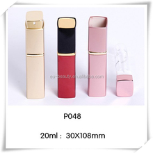20ml square shape aluminium refillable perfume atomizer with middle ring