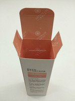 Pregant skin care products packaging box with double side printed