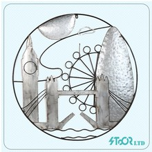 Wall decoration and home accent , modern round metal iron wall accent