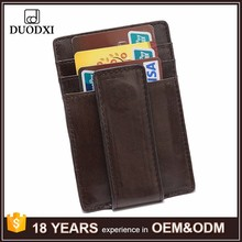 Men's RFID Blocking Minimalist Money Clip Front Pocket Wallet Card Holder Leather