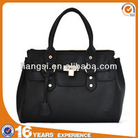 Liams newest classic 100% genuine leather shopper tote bag black handbag