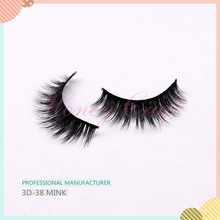 3D 38 mink false eyelashes with the most beautiful naturally custom packaging