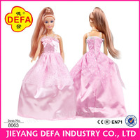DEFA LUCY 11.5 Inch Plastic Beautiful Princess Dress Up Game Doll