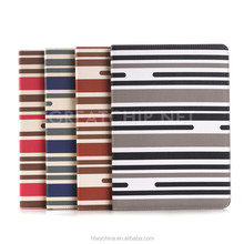 2015 Striped design Stand leather Case for iPad Pro, Wake-up function PU leather Case for iPad Pro 12.9 inch