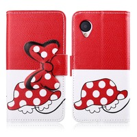 For LG Google Nexus 5 Bow-knot Flip PU Leather Wallet Case with Photo Frame Card Holder Stand fundas Phone Cover