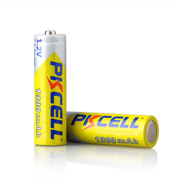 pkcell aa batteries 1300mah 1.2v nimh rechargeable battery