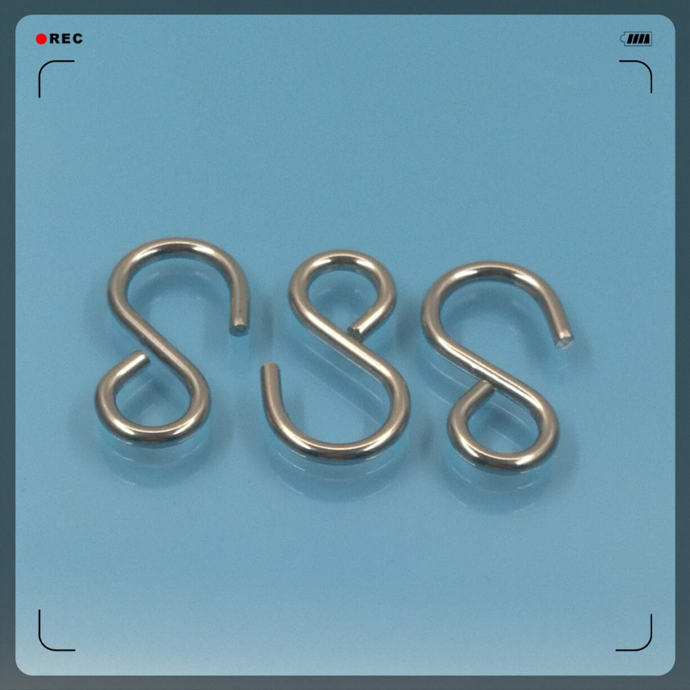 Stock Size 38mm Length Stainless Steel Kitchen Pot Pan Tool Clothes S <strong>Hook</strong>