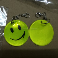 2016 promotional gifts cheap emoji design reflection pvc folding car key chain